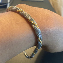 Rolled Silver and Gold Bracelet [doesn't tarnish]