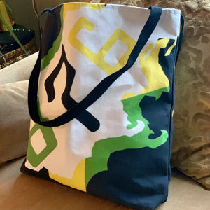 Caribbean Vibes 876 Jamaica Map Tote Bag