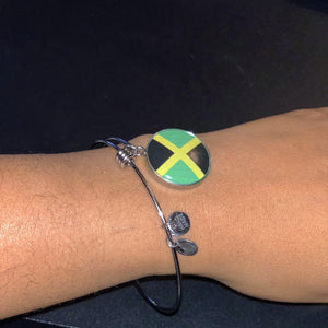 Caribbean Vibes Jamaica Flag Necklace or Bangle