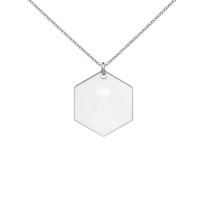 First name Initial Pendant Necklace - A