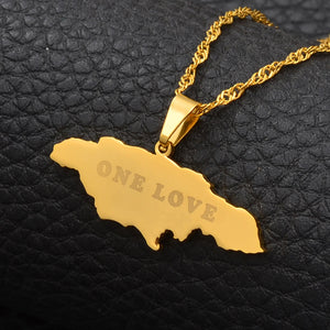 Caribbean Vibes Jamaica 1 Love Pendant Necklace