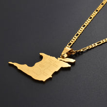 Caribbean Vibes - Trinidad & Tobago Cities Map Pendant Necklace
