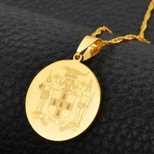 Caribbean Vibes Jamaica Coat of Arms Pendant Necklace