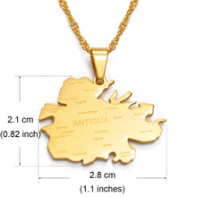Caribbean Vibes Antigua Parish Pendant Necklace