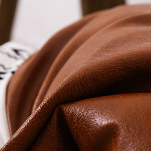 Faux Leather Cotton Throw Pillow [cover only]