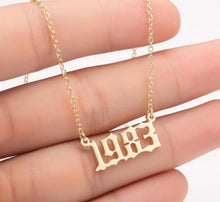 It's My Birth Year Pendant Necklace