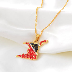 Caribbean Vibes Trinidad and Tobago Bling Pendant Necklace