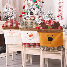 Plaid Christmas Dining Chair Back Cover