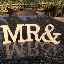 Free Standing Wooden Letters A to Z Home Decor
