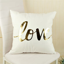 Gold + White Decorative Throw Pillow (covers only)