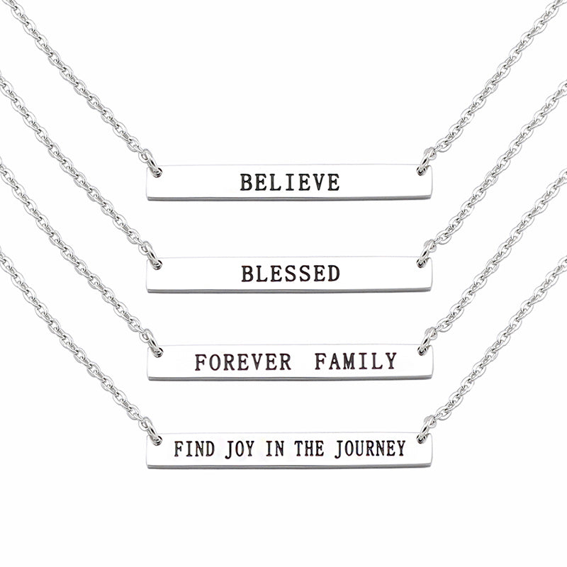 Inspirational Pendant Necklace in Stainless Steel