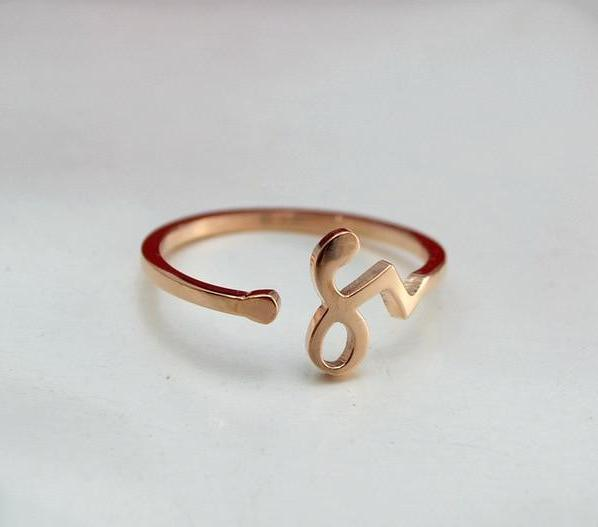 12 Zodiac Sign Adjustable Rings