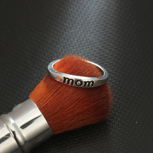 MOM Antique Silver Plated Ring