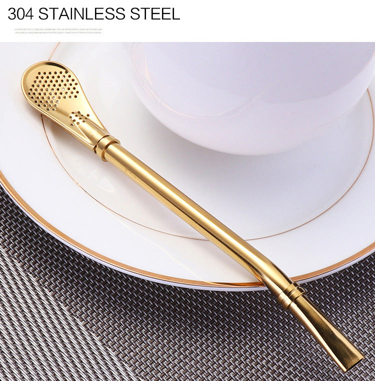 Reusable 304 Stainless Steel Yerba Mate Straw Filter