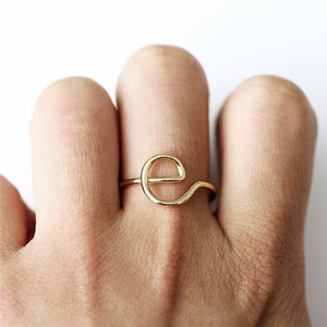 Letter Ring For Women