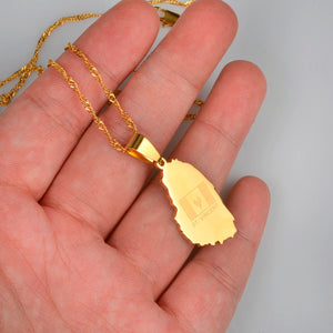 Caribbean Vibes - St. Vincent  Map Pendant Necklace