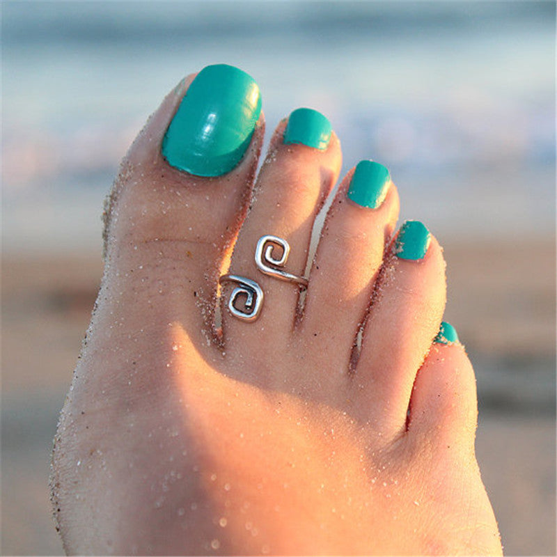 2 Coil Toe Ring