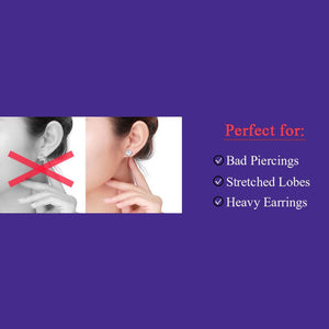 Hot Magic Earring Backs Support Earring Lifts Fits All Post Earrings Set Earring