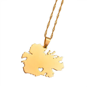 Caribbean Vibes Antigua Gold Pendant Necklace (low inventory)