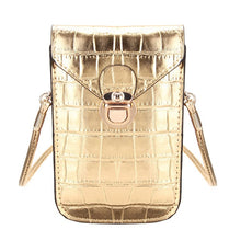 Lady Bling DJ Croc effect mini cross body bag
