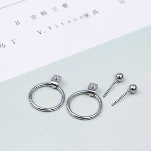 Stud Circle Earring