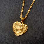 Heart Pendant Necklace Gold Plated