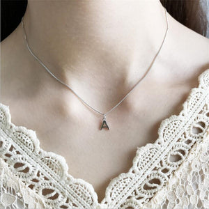 Sterling Silver Letter Necklace For Women