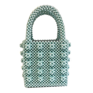 Pearl Beaded Box Tote Bag (5 colors available)