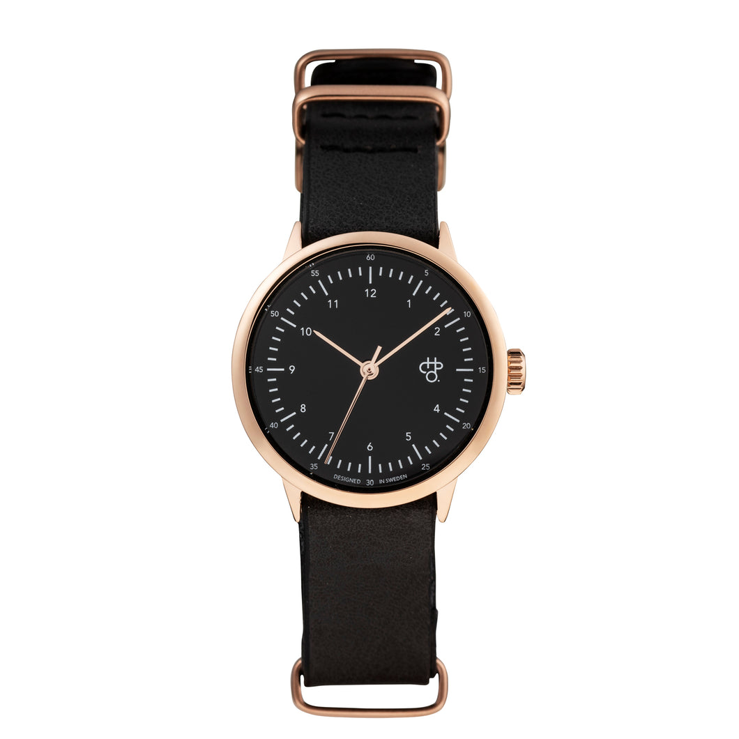 Harold Mini Rose/Black (Black strap)