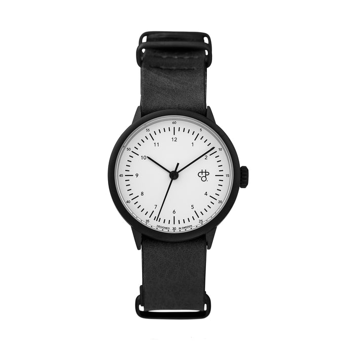 Harold Mini Black/White (Black strap)