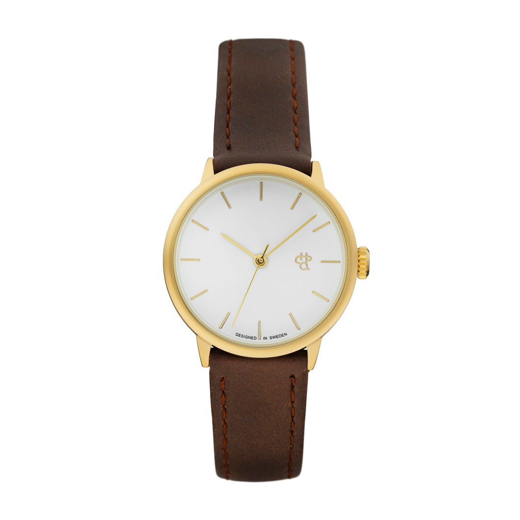 Khorshid Mini Gold (Brown strap)