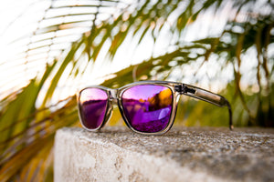 CRUX Polarized TR90 (Trans Grey | Purple)