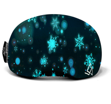 Laden Sie das Bild in den Galerie-Viewer, Skibrillen Cover (Snowflakes Blue)