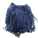 Bella Tassel - Suede leather bag with fringes