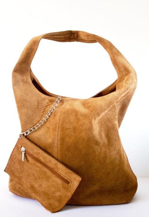 Michaela soft suede shopper
