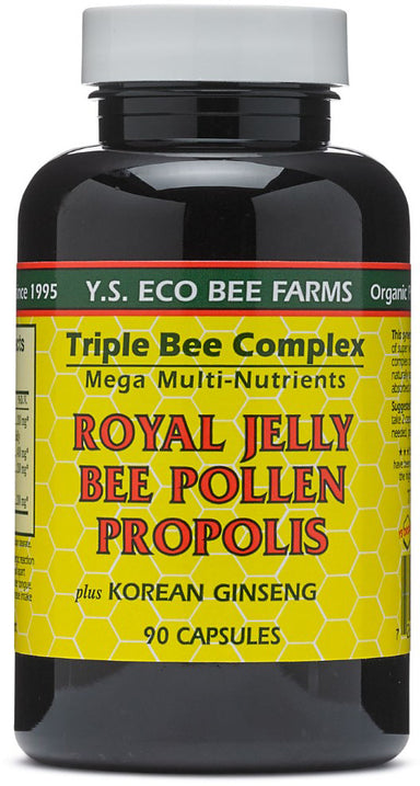 Royal Jelly Bee Pollen Propolis plus Korean Ginseng, 90 Capsules