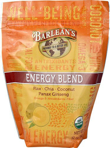 Energy Blend, Flax Chia Coconut and Panax Ginseng, 12 Oz (340 g) Powder