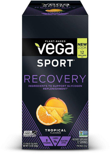 Vega Sport® Recovery, Tropical Flavor, 12 Count, 11.52 oz