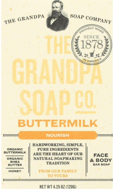 Buttermilk Nourish Face & Body Bar Soap, 4.25 Oz (120 g) Bar