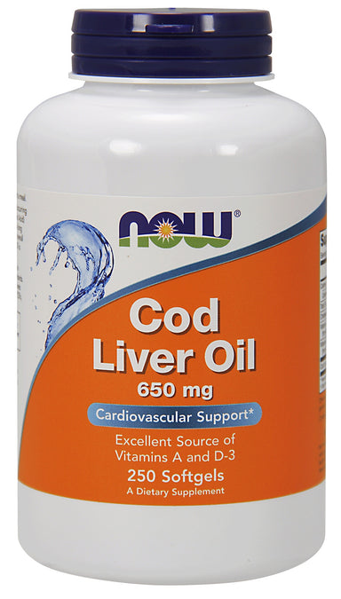 Cod Liver Oil 650 mg, 250 Softgels