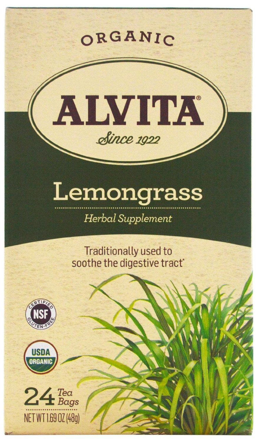 Organic Lemongrass, 24 Tea Bags
