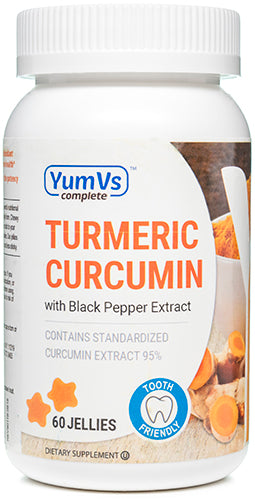 Turmeric Curcumin with Black Pepper Extract, 60 Jellies