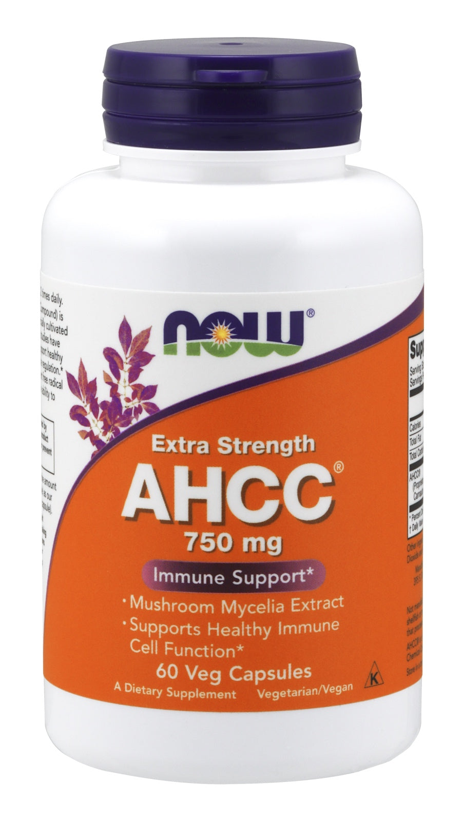 AHCC®, Extra Strength 750 mg, 60 Veg Capsules