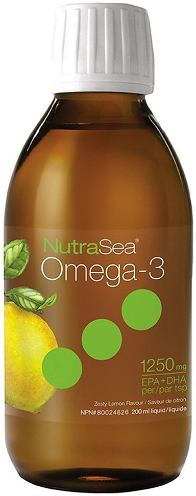 NutraSea™ Omega-3, 1250 mg of EPA + DHA, Zesty Lemon Flavor, 6.8 Fl Oz (200 mL) Liquid