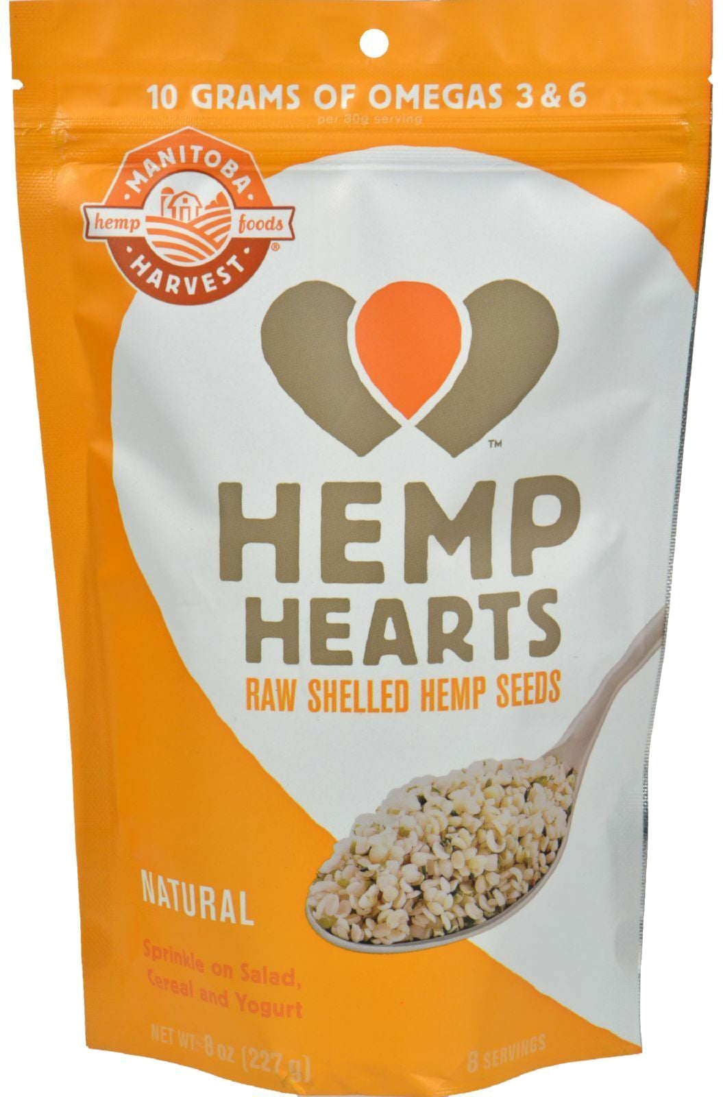 Hemp Hearts Raw Shelled Hemp Seeds, Natural Flavor, 8 Oz (227 g) Seeds