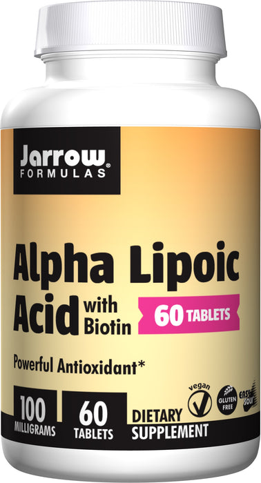 Alpha Lipoic Acid with Biotin, 100 mg, 60 Tablets