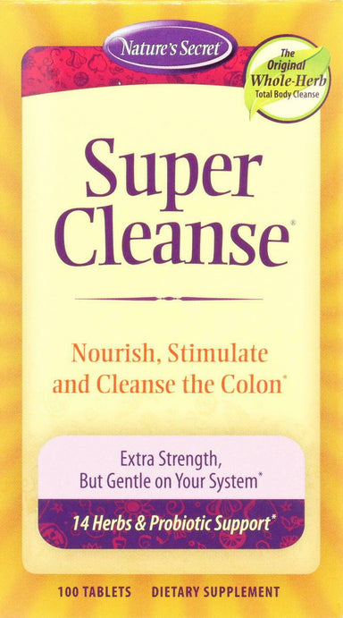 Super Cleanse with 14 Herbs & Probiotics, 100 Tablets