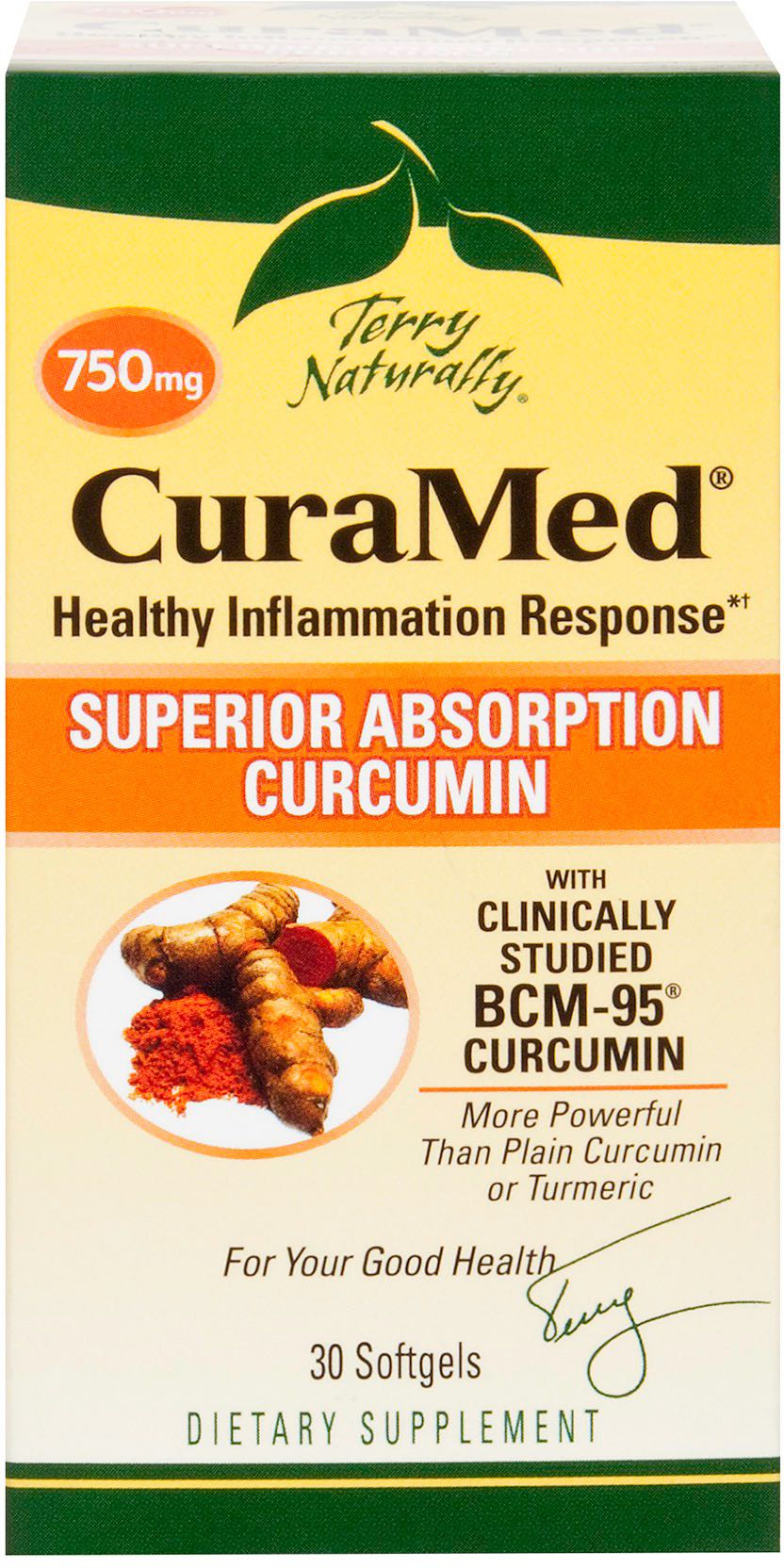 Terry Naturally CuraMed® 750 mg, 30 Softgels