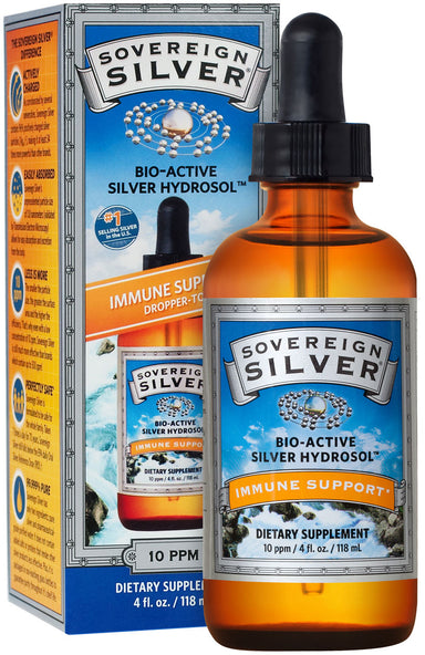 Bio-Active Silver Hydrosol™, 10 ppm, Dropper, 4 Fl Oz (118 mL) Liquid