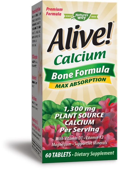 Alive! Calcium, 60 Tablets